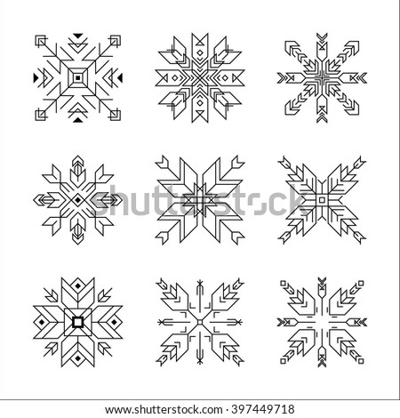 Vector frame outline collection including geometric lines and shapes. Decorative elements for web and print design. Logotype template.