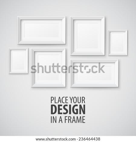 Vector Frame template - stock vector
