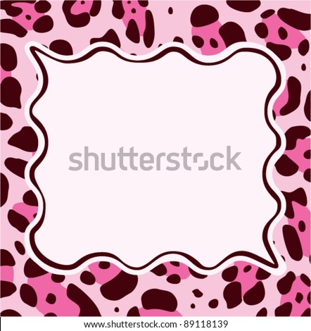 vector frame with abstract leopard skin texture and copy-space - stock vector