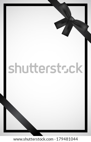 Vector frame with black ribbon - stock vector