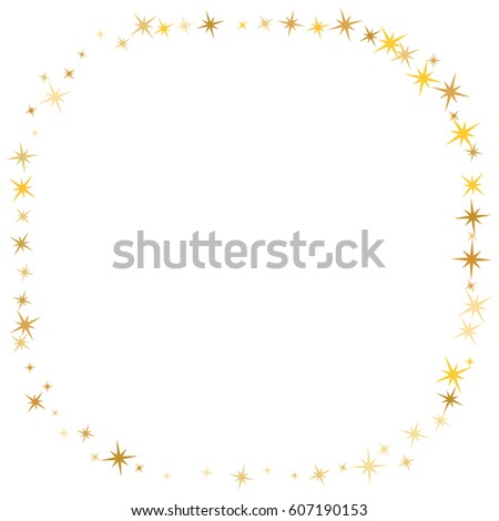Vector Frame Gold Star Elements On Stock Vector 607190153 ...  Shutterstock Border Design Free Download