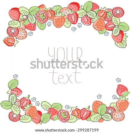 Vector Frame Strawberry Empty Template Stock Vector HD (Royalty Free ...