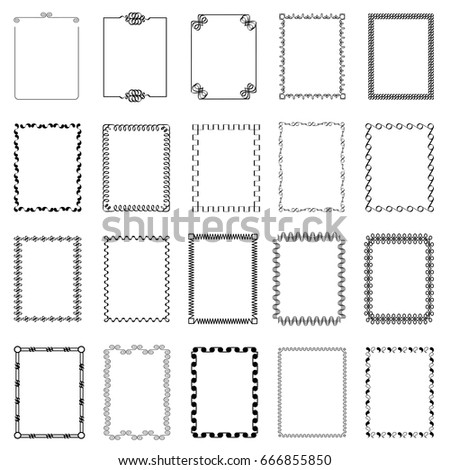 vector frames borders set floral style stock vector royalty free