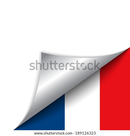 Vector - France Country Flag Turning Page