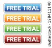 "Vector ""Free Trial"" button - stock photo"