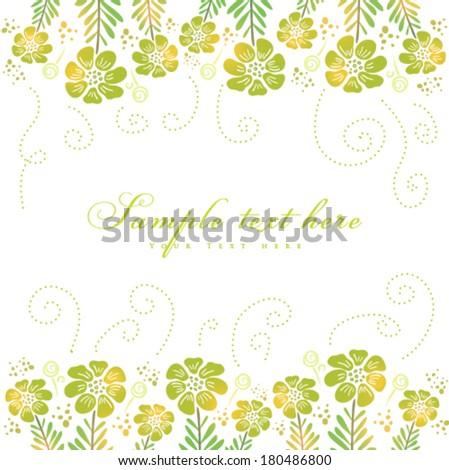 Vector fresh spring easter card. - stock vector