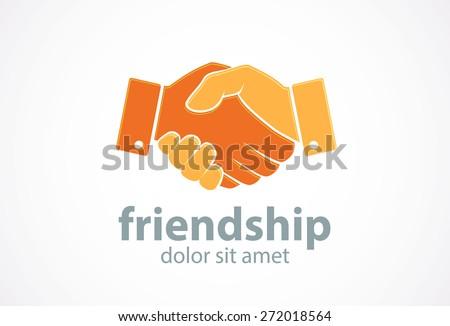 Vector friendship icon. Concept for community unity, solidarity, partnership.  - stock vector