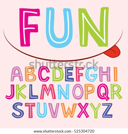 Vector Fun Color Font For Kids