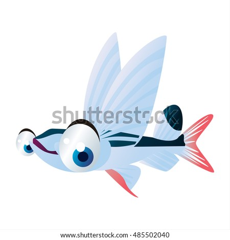 Cartoon Flying Fish Stock Images, Royalty-Free Images & Vectors ...