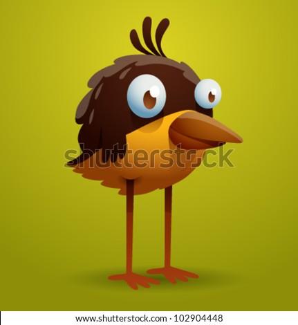 vector funny bird 11 - stock vector