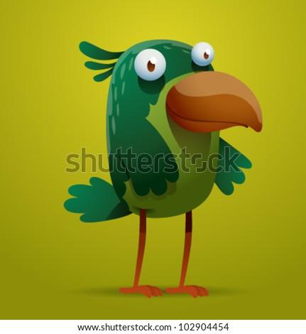 vector funny bird 9 - stock vector