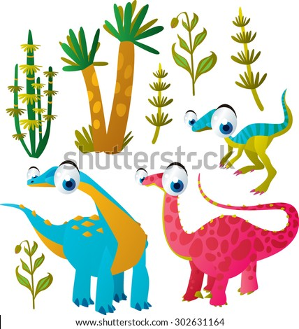 vector funny colorful animal kids set:  - stock vector