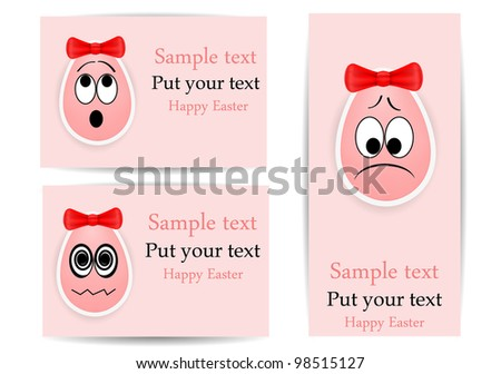 vector funny eggs, dedicated to Happy Easter Day