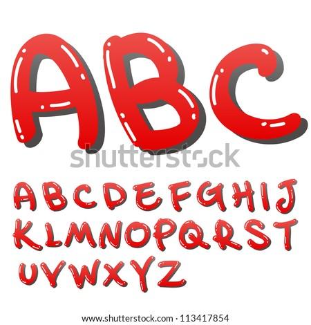 vector funny font - stock vector