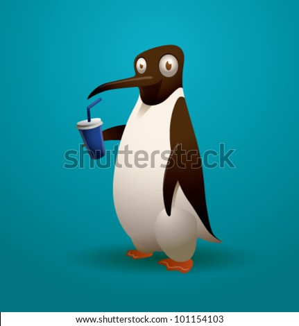 vector funny penguin 7