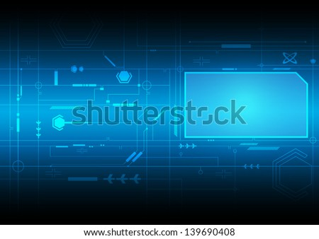 vector future digital interface, electronic technology - stock vector