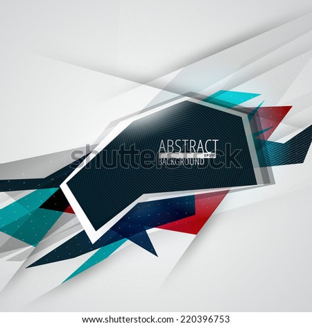 Vector futuristic abstract colorful lines background. Eps10