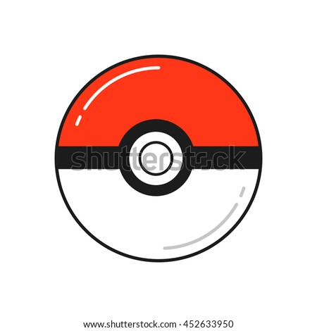 Vector game balls for play in team. Pokeball object. - stock vector
