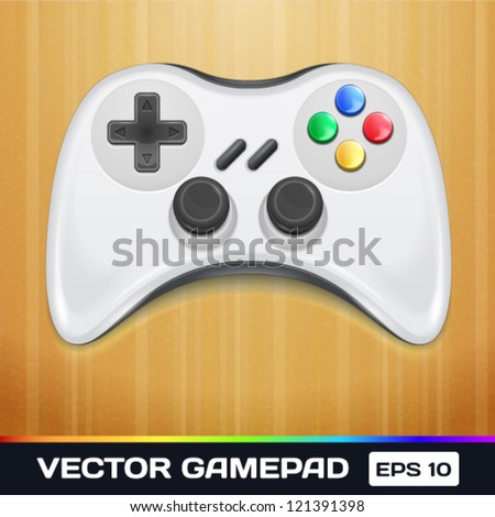 Vector Game Controller Icon - stock vector