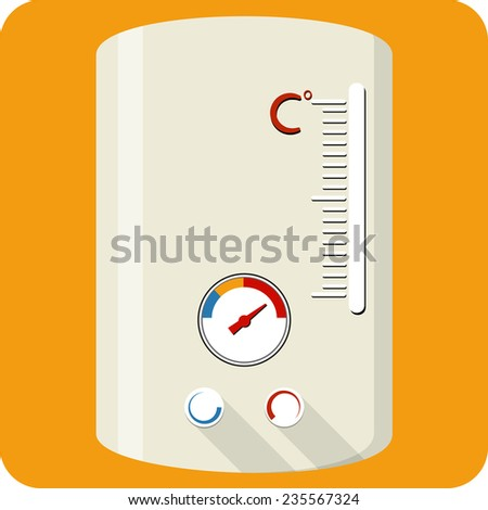 Vector Gas Boiler - stock vector