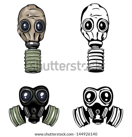 vector gas mask - stock vector
