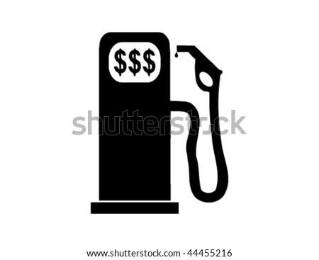 Vector Gas Pump, High Fuel Prices Concept - stock vector