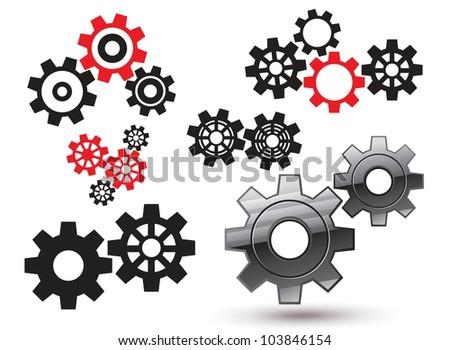 Vector gears - stock vector