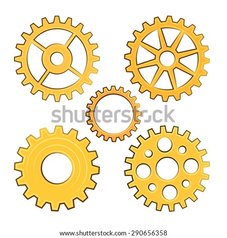 Vector gears set. EPS 10 - stock vector