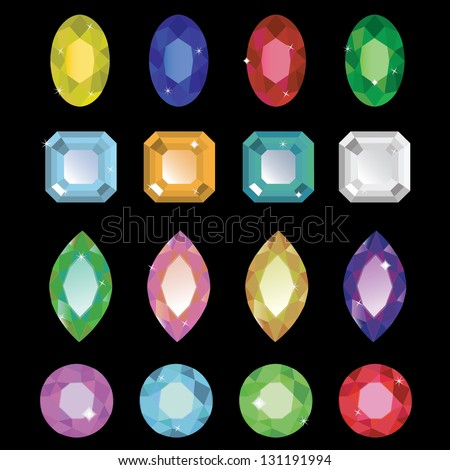 Vector Gemstone Illustration - stock vector
