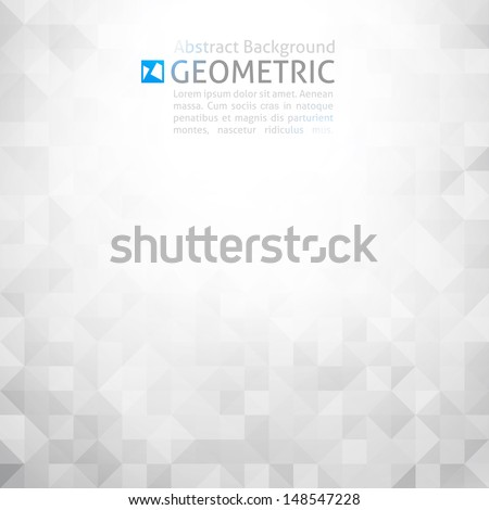 vector geometric abstract background - stock vector