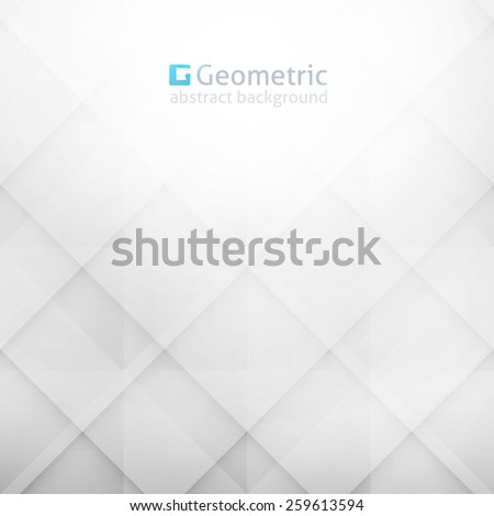 vector geometric abstract background with rhombus shapes, light blue color - stock vector