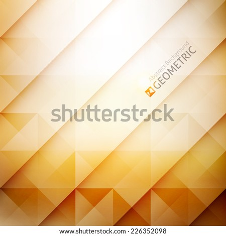 vector geometric abstract background with triangles and lines - stock vector