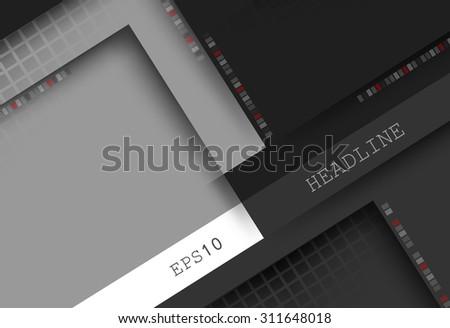 vector geometric background. Elements for design. Eps10 - stock vector