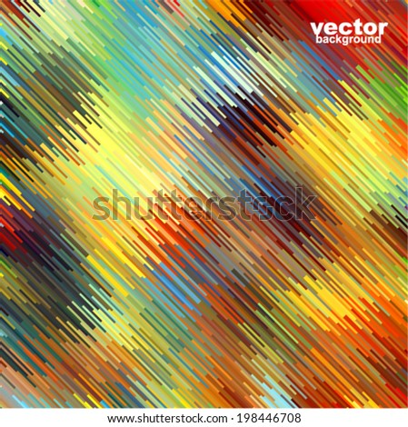 Vector geometric background - futuristic pattern with many motion objects (rain) - stock vector