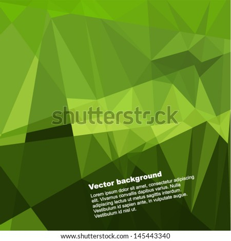 Vector geometric background - futuristic pattern with many triangles