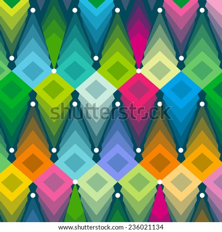 vector geometric color pattern background - stock vector