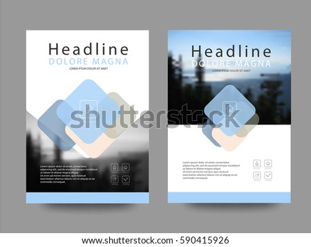 Vector Geometric Cover Page Template Design Stock Vector