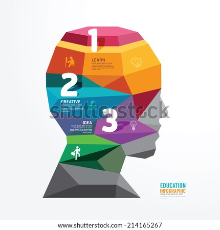 vector geometric head design infographic Template banner . concept vector illustration