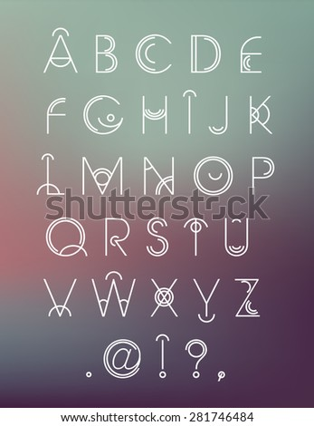 Geometric Font Stock Images, Royalty-Free Images & Vectors ...