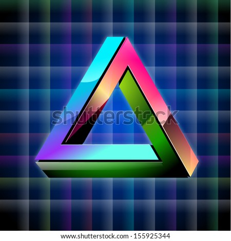 Vector geometric illusion - stock vector