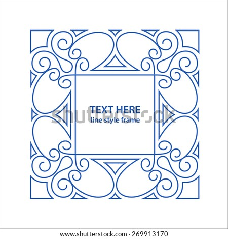 Citation text box frame decoration quote stock vector for A style text decoration