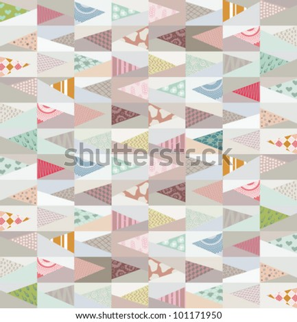vector geometric pattern background - stock vector