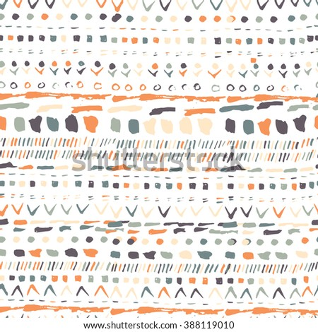Vector geometric pattern. Geometric hand drawn pattern in tribal Navajo style. Geometric pattern aztec print  design. Geometric pattern can be used for fabric design, paper print and website backdrop - stock vector