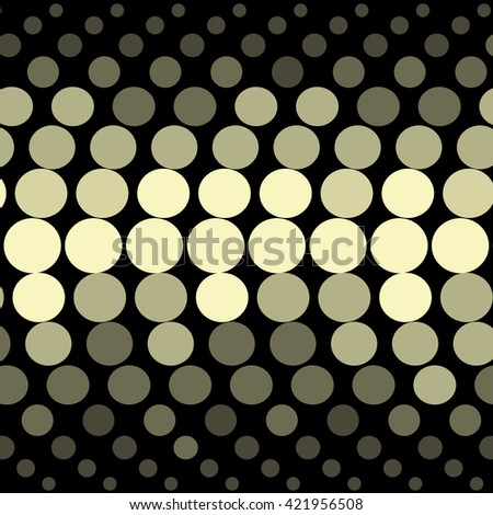 Vector geometric pattern. Modern texture in golden color. Simple dotted design. Abstract background on the book cover, brochure, flyer or website.  - stock vector