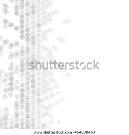 Vector geometric pattern. Modern texture in monochrome. Grey dotted design. Stylish tiles of circles. Abstract background on the book cover, brochure, flyer or website.