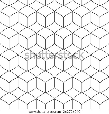 Vector geometric pattern - seamless - stock vector