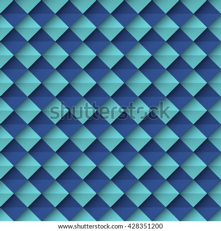Vector geometric seamless abstract background with square, stylized as paper.