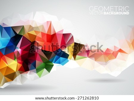 Vector geometric triangles background. Abstract polygonal design. EPS 10 illustration. - stock vector