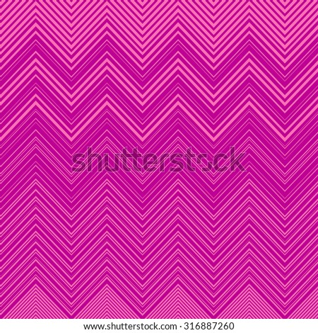 Vector Geometric Vibrating Wave Pattern. Stylish Decorative Background with  Zigzags