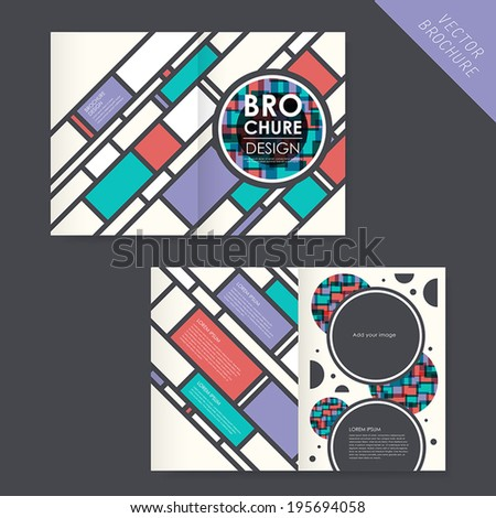 vector geometry brochure design element, modern and circle - stock vector
